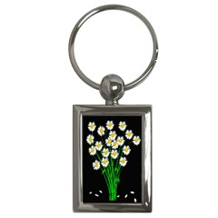 Bouquet Geese Flower Plant Blossom Key Chains (rectangle)