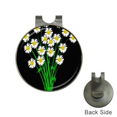 Bouquet Geese Flower Plant Blossom Hat Clips With Golf Markers