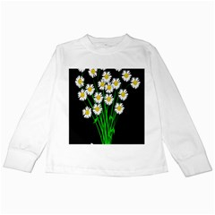Bouquet Geese Flower Plant Blossom Kids Long Sleeve T Shirts