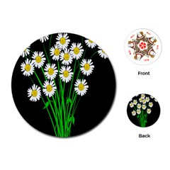 Bouquet Geese Flower Plant Blossom Playing Cards (round)