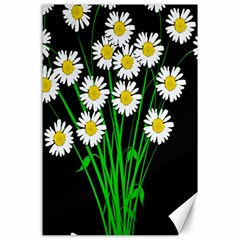 Bouquet Geese Flower Plant Blossom Canvas 24  X 36