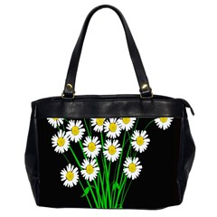 Bouquet Geese Flower Plant Blossom Office Handbags (2 Sides)