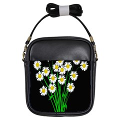 Bouquet Geese Flower Plant Blossom Girls Sling Bags