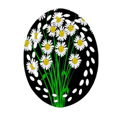 Bouquet Geese Flower Plant Blossom Oval Filigree Ornament (two Sides)