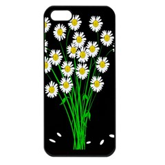 Bouquet Geese Flower Plant Blossom Apple Iphone 5 Seamless Case (black)