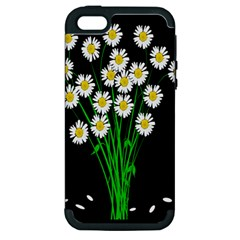 Bouquet Geese Flower Plant Blossom Apple Iphone 5 Hardshell Case (pc+silicone)