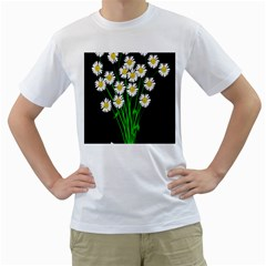 Bouquet Geese Flower Plant Blossom Men s T Shirt (white)