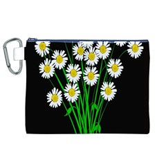 Bouquet Geese Flower Plant Blossom Canvas Cosmetic Bag (xl)