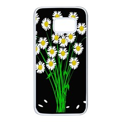 Bouquet Geese Flower Plant Blossom Samsung Galaxy S7 White Seamless Case