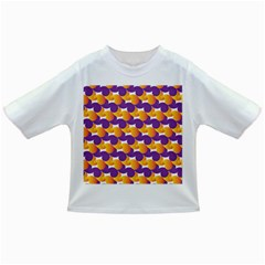 Pattern Background Purple Yellow Infant/toddler T Shirts