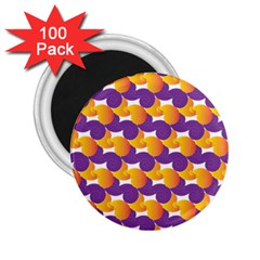 Pattern Background Purple Yellow 2 25  Magnets (100 Pack)
