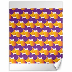 Pattern Background Purple Yellow Canvas 12  X 16