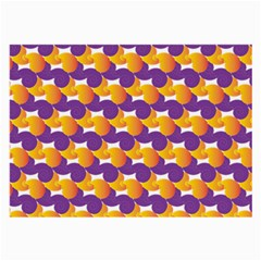 Pattern Background Purple Yellow Large Glasses Cloth (2 Side)