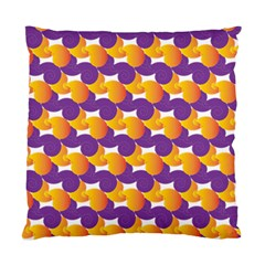 Pattern Background Purple Yellow Standard Cushion Case (two Sides)