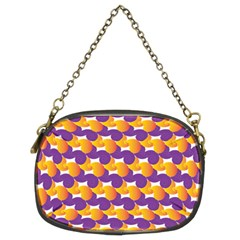 Pattern Background Purple Yellow Chain Purses (two Sides)