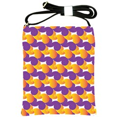 Pattern Background Purple Yellow Shoulder Sling Bags