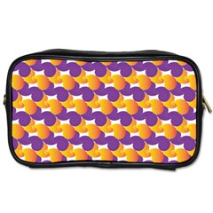Pattern Background Purple Yellow Toiletries Bags