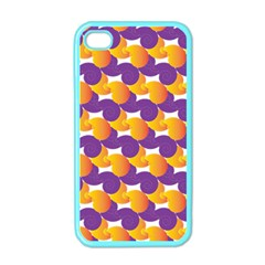 Pattern Background Purple Yellow Apple Iphone 4 Case (color)