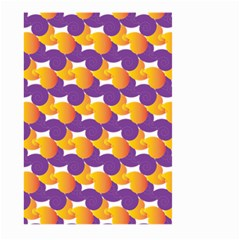 Pattern Background Purple Yellow Large Garden Flag (two Sides)