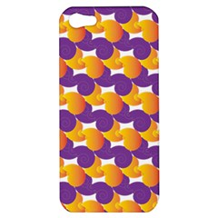 Pattern Background Purple Yellow Apple Iphone 5 Hardshell Case