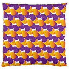 Pattern Background Purple Yellow Large Flano Cushion Case (two Sides)