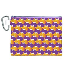 Pattern Background Purple Yellow Canvas Cosmetic Bag (xl)