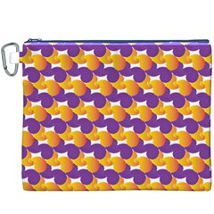 Pattern Background Purple Yellow Canvas Cosmetic Bag (xxxl)