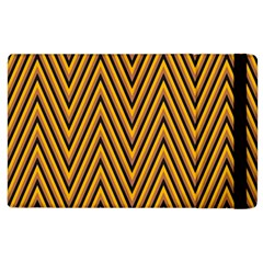 Chevron Brown Retro Vintage Apple Ipad 2 Flip Case
