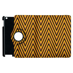 Chevron Brown Retro Vintage Apple Ipad 3/4 Flip 360 Case