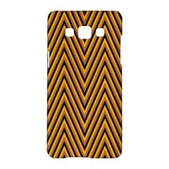 Chevron Brown Retro Vintage Samsung Galaxy A5 Hardshell Case
