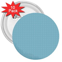 Blue Pattern Background Texture 3  Buttons (10 Pack)