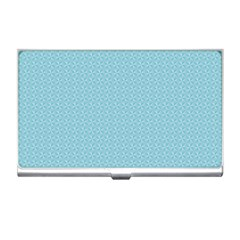 Blue Pattern Background Texture Business Card Holders