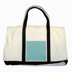 Blue Pattern Background Texture Two Tone Tote Bag