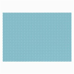 Blue Pattern Background Texture Large Glasses Cloth (2 Side)