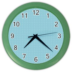 Blue Pattern Background Texture Color Wall Clocks