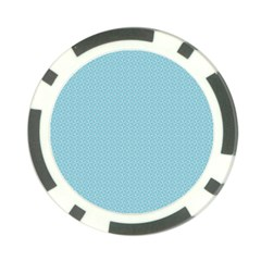 Blue Pattern Background Texture Poker Chip Card Guard (10 Pack)