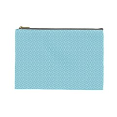 Blue Pattern Background Texture Cosmetic Bag (large)