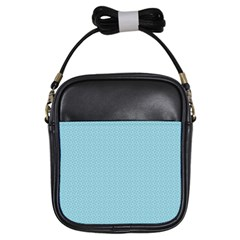 Blue Pattern Background Texture Girls Sling Bags