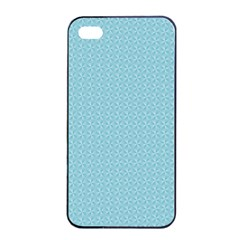 Blue Pattern Background Texture Apple Iphone 4/4s Seamless Case (black)