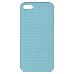 Blue Pattern Background Texture Apple Iphone 5 Hardshell Case