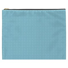 Blue Pattern Background Texture Cosmetic Bag (xxxl)