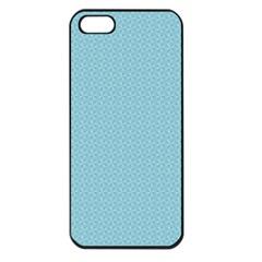 Blue Pattern Background Texture Apple Iphone 5 Seamless Case (black)