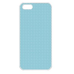 Blue Pattern Background Texture Apple Iphone 5 Seamless Case (white)