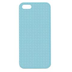 Blue Pattern Background Texture Apple Seamless Iphone 5 Case (color)