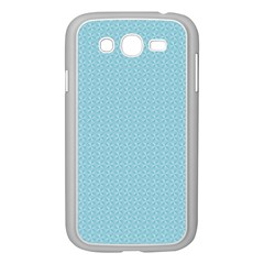 Blue Pattern Background Texture Samsung Galaxy Grand Duos I9082 Case (white)