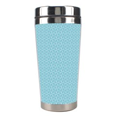 Blue Pattern Background Texture Stainless Steel Travel Tumblers