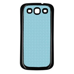 Blue Pattern Background Texture Samsung Galaxy S3 Back Case (black)