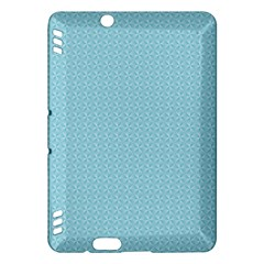 Blue Pattern Background Texture Kindle Fire Hdx Hardshell Case