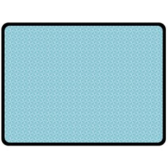 Blue Pattern Background Texture Double Sided Fleece Blanket (large)
