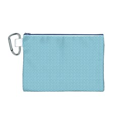 Blue Pattern Background Texture Canvas Cosmetic Bag (m)